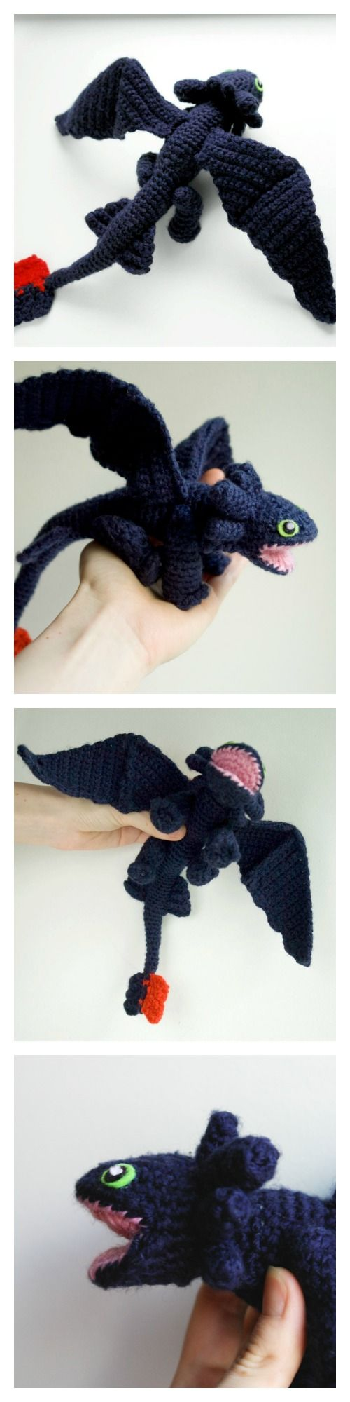 Knitting Pattern Toothless Dragon : My Hobby Is Crochet: Crochet pattern for amigurumi Toothless dragon
