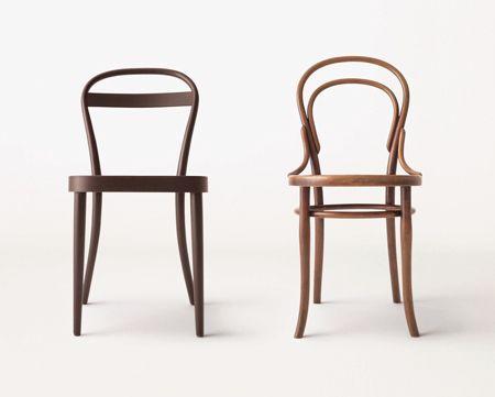 Thonet réinvente sa chaise pour Muji