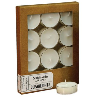 Areohome Clearlite Unscented Tealight Candle Tea Lights Tea Light Candles Candles