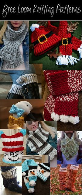 FREE LOOM KNITTING PATTERNS! #freeloomknittingpatterns #loomknitting