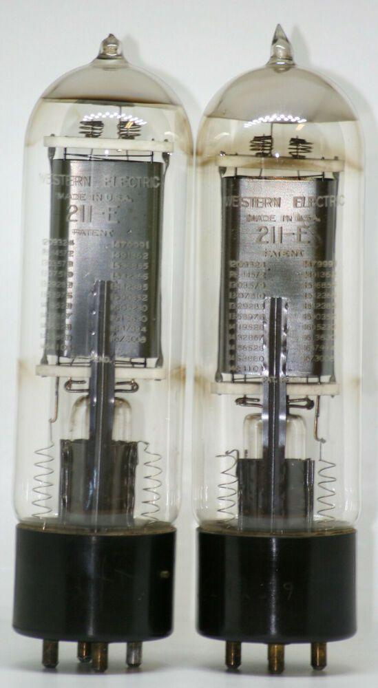 Western Electric 211e Triode Vacuum Tube Valve 211 Vt4c Rca 12bh7
