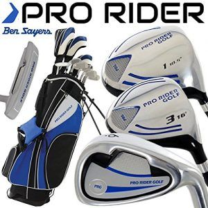 """NEW 2016"" BEN SAYERS PRO RIDER COMPLETE GOLF SET IRONS WOODS PUTTER & STAND…"