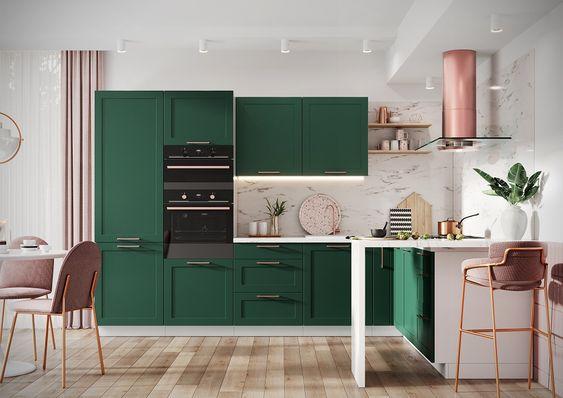 Kuchnia Adele Z Systemu Trend Line Kolor Granat Modern Kitchen Set Kitchen Cabinets Gold Living Room