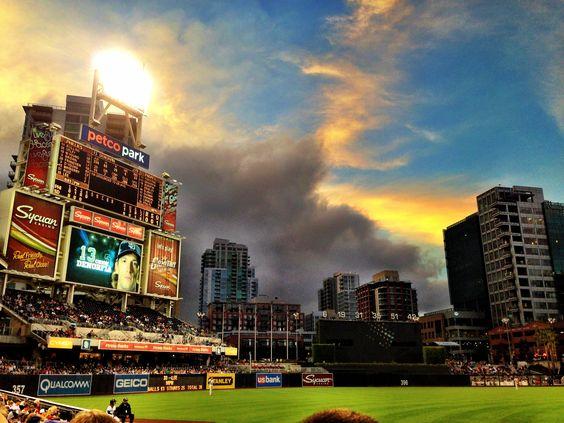 San Diego Padres - Petco Park at Dusk #baseball #sandiego