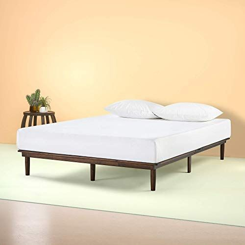 Buy Zinus Bobbie 10 Inch Wood Platform Bed Frame Mattress Foundation Sturdy Wood Slat Support Solid Acacia Wood Folding Design Tool Free Assembly Q In 2020