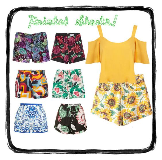"""""""Printed Shorts!"""" by biacopoli on Polyvore"""