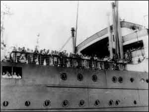 Picture of the S.S. St. Louis. This was the ship that was carrying almost 1000 Jews, who had managed to escape Europe. As they were sailing to North America they thought they would be free. Upon arrival, the Canadian, American, and Cuban Government denied access to the country. So they had to sail all the way back to Europe were they were captured. This effected all the Jewish people on board, as well as it shows that Canada was not always so accepting as it is today.