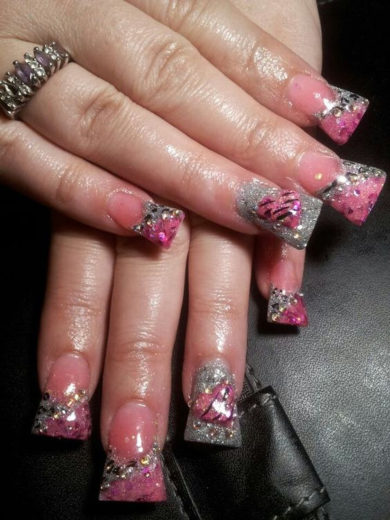 Most favorite colors Pink nd silver