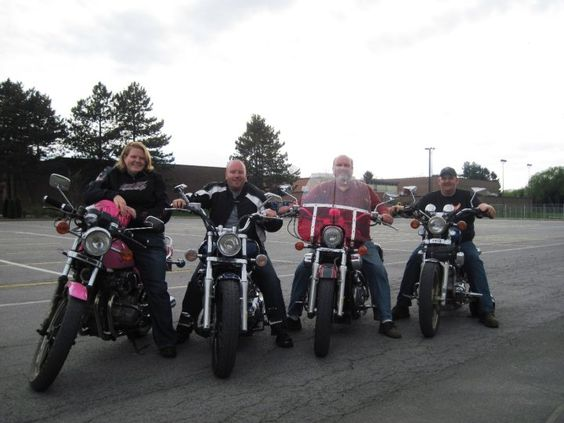 All girls like to ride in style.  Out for a ride with my husband, brother, and dad.