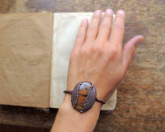 incroyable brancelet agate café grain de café par MARIAELA sur Etsy