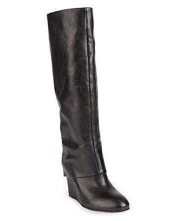 STEVEN BY STEVE MADDEN Tall Wedge Boots - Mauraa
