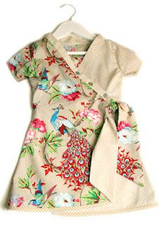 Cute little dress made by me with Stenzo fabric and Abacadabra pattern 75.