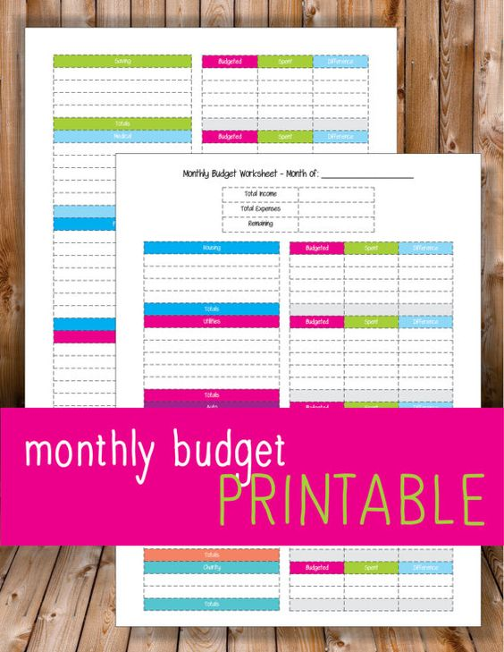 Printable Monthly Budget Worksheet. Simple layout to keep your budget focused.  2 Page Worksheet with plenty of space to write down different budgets and amounts.  Categories include: - Housing - Utilities - Auto - Food & Entertainment - Charity - Saving - Medical - Personal - Debt    *** PLEASE READ***  • Feel free to print as many as needed, for personal use only.  • Made to fit 8.5 x 11 sheet of paper.  • You may need to adjust printer margins for everything to fit on page before…
