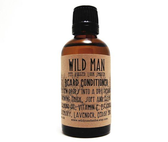 Beard Conditioner Wild Man Beard Softener 50ml Beard Oil. $19.95, via Etsy.