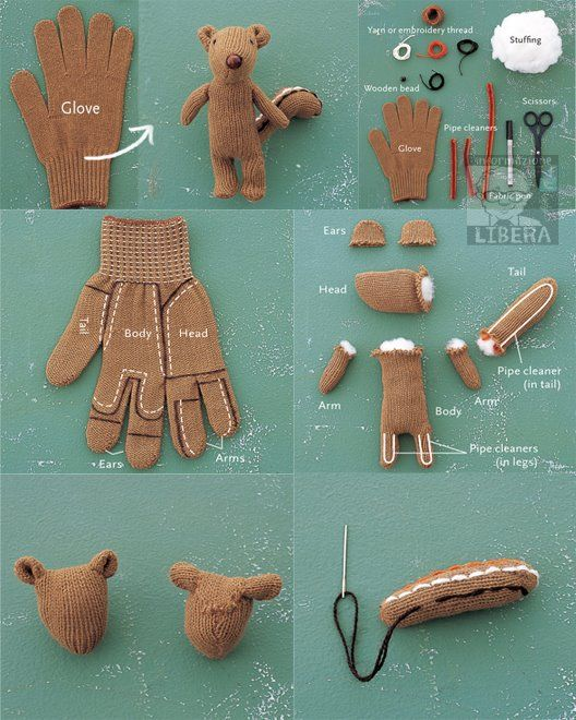 Recycled Glove How-to: Make a Chipmunk Softie http://www.etsy.com/blog/en/2008/recycled-glove-how-to-make-a-chipmunk-softie/