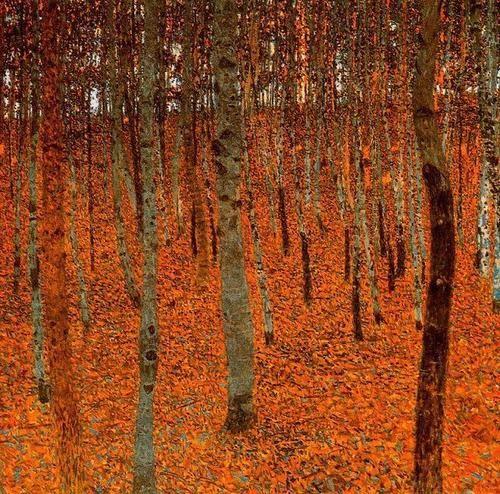 La forêt de bouleaux, vers 1902