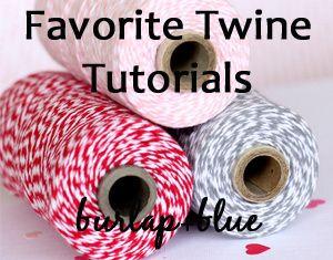 21 baker's twine tutorials.