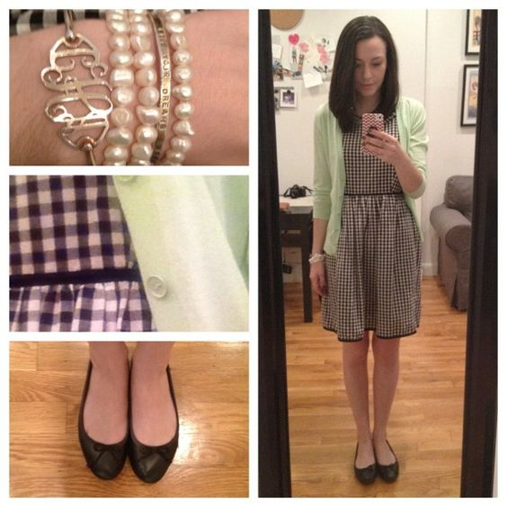 OOTD | black, white, & mint. (Taken with Instagram) Sweater, J. Crew (similar) Dress, Madewell Shoes, J. Crew
