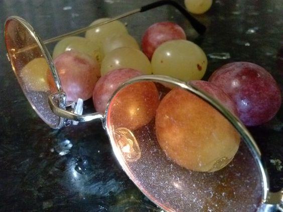 Fotografía macro de unas uvas