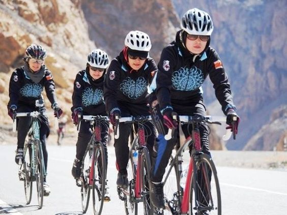 Afghan Women's National Cycling Team. They say it's worth enduring insults and even threats of violence to pursue the sport they love. Now, the women have their sights set on a new goal -- to have one of their own make it to the 2016 Olympic Games, striking down barriers for Afghan women along the way.
