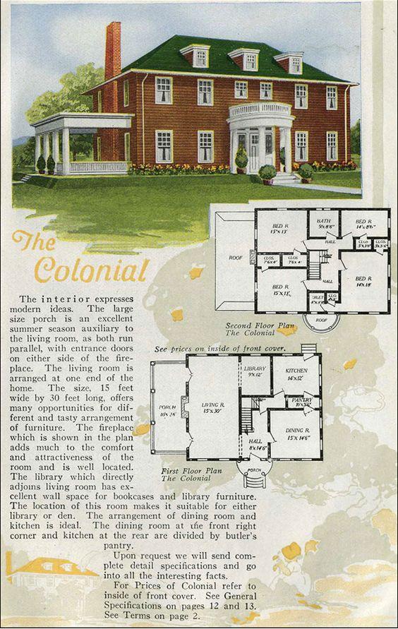 vintage house plan   Antique House Plans   Vintage House Plans    vintage house plan   Antique House Plans
