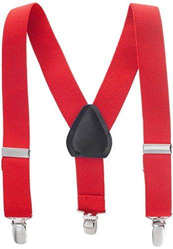 """Solid Color Kids Elastic Adjustable Suspenders - Red (26"""") Hold'Em http://www.amazon.com/dp/B00AKBQAJO/ref=cm_sw_r_pi_dp_.cVCvb13DDDQV"""