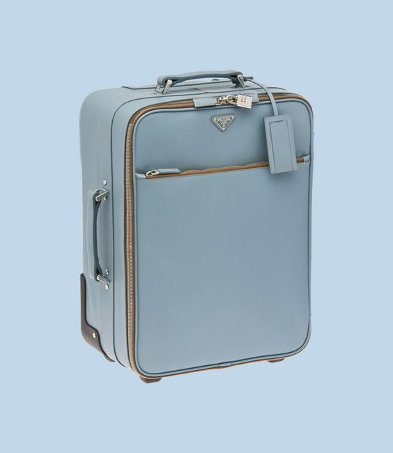 prada discount handbags - PRADA Trolley - Saffiano calf leather, double handle and two-wheel ...