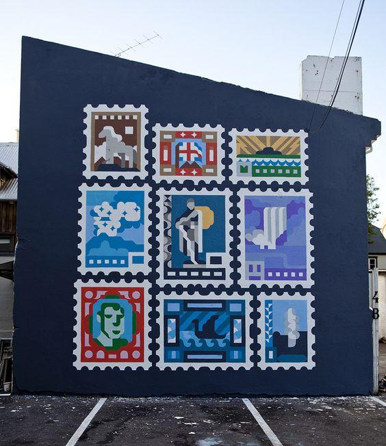 Siggi Eggertsson wall mural for the Iceland Design Centre