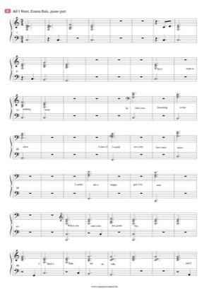All I Want By Emma Bale Piano Sheet Music Sheetdownload Piano Sheet Music Free Sheet Music Piano Sheet Music Pdf