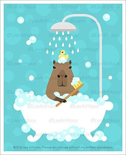 Pin On Lee Arthaus Capybara Prints