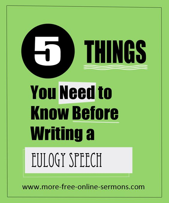 tips for writing a funeral speech for father