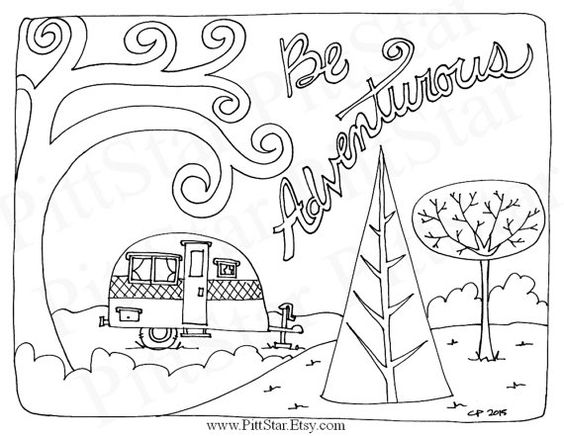 happy camper coloring pages - photo#18