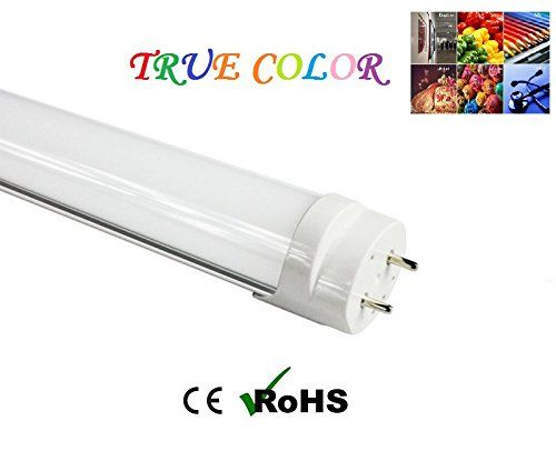 Fulight Full Spectrum¤ T8 LED Tube Light (Dimmable)- 4FT 48″ 18W (32W Equivalent), Daylight 4000-4500K, FO32/950/CW, F32T8, F34T12, Double-End Powered, Frosted Cover – Fluorescent Replacement Bulbs For Arts, Food & Jewelry Stores, And Medical Lighting | Garage Lights