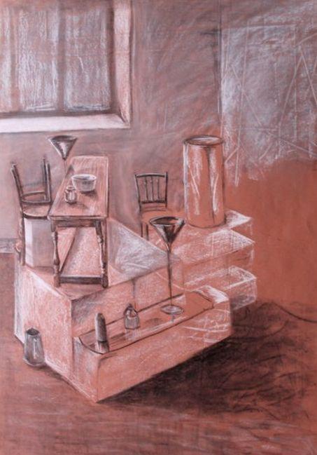 Still Life, Charcoal & Chalk 2012