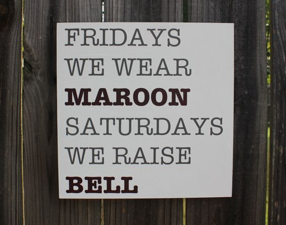 Maroon Friday Art Sign / Cowbell Sign Art / Mississippi State Bulldogs