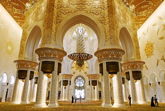 The Prayer Hall in the Sheikh Zayed Grand Mosque, Abu-Dhabi, U.A.E.