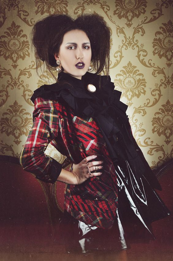 Silk Tartan Jacket by Jenny Edwards-Moss. Restyled by Claudia Edwards. Photography by Victoria Cadisch.