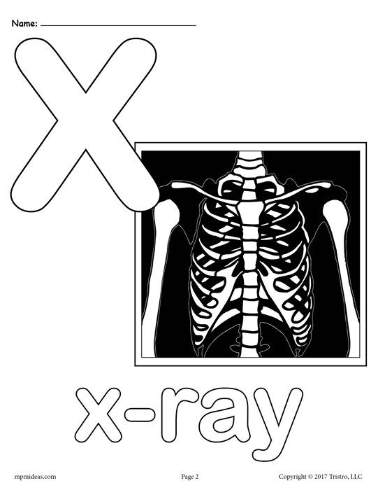 X Ray Printable Coloring Pages Alphabet Coloring Pages Preschool Coloring Pages Printable Coloring Pages