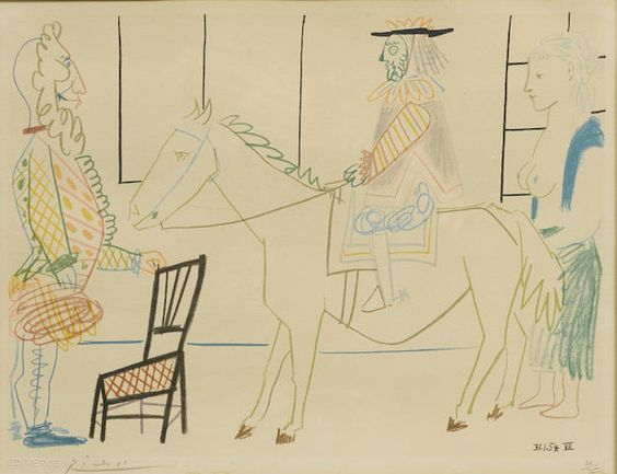 Pablo Picasso (Spanish, 1881-1973); Plate VII, from Suite de 180 Dessins de Picasso portfolio (Verve issue No. 29 - 30);