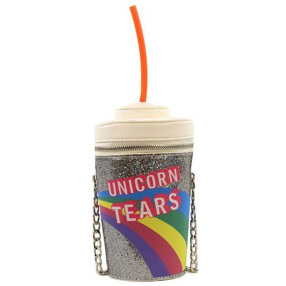 Silver Unicorn Tears Purse