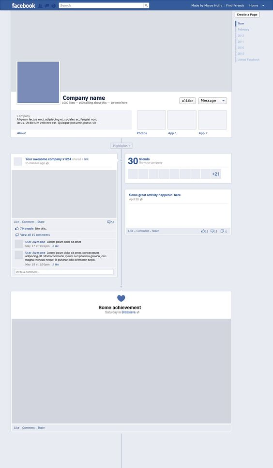 Facebook Timeline (Free PSD) Design Freebies,Techniques - blank timeline template