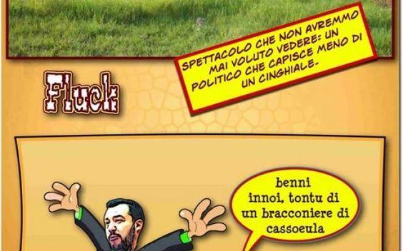 Salvini, incredibile ometto da punging ball Oggi a Casteddu, secondo nome della fascinosa Cagliari, é arrivato il salvinkia, ometto della politica italiana noto più per le sue foto osée che per i suoi studi politici ed é stato subito scombulos #satira #umorismo #vignette #oggiacastedd