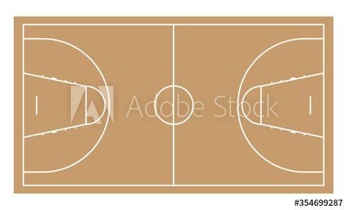 Basketball Court Vector Illustration Simple Style Ad Vector Court Basketball Style Simple In 2020 Vector Illustration Simple Style Illustration