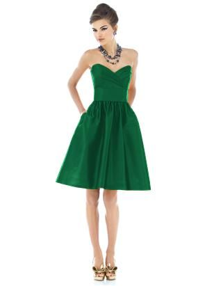 Green dresses are hard to find!
