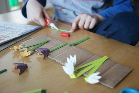 wiosenne kwiatki z recyklingu | Wiosna | prace plastyczne, edukacyjne