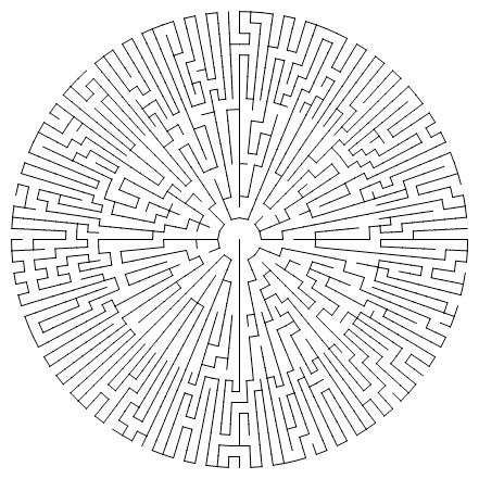 circle mazes - Google Search | Coloring: Mazes & Puzzles ...