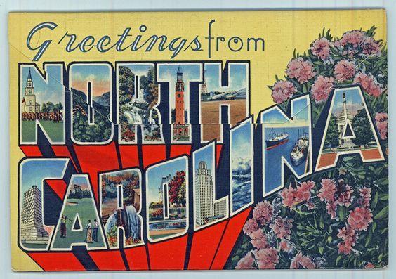 Greetings from North Carolina (PhC_120_3_27_Back) by State Archives of North Carolina, via Flickr