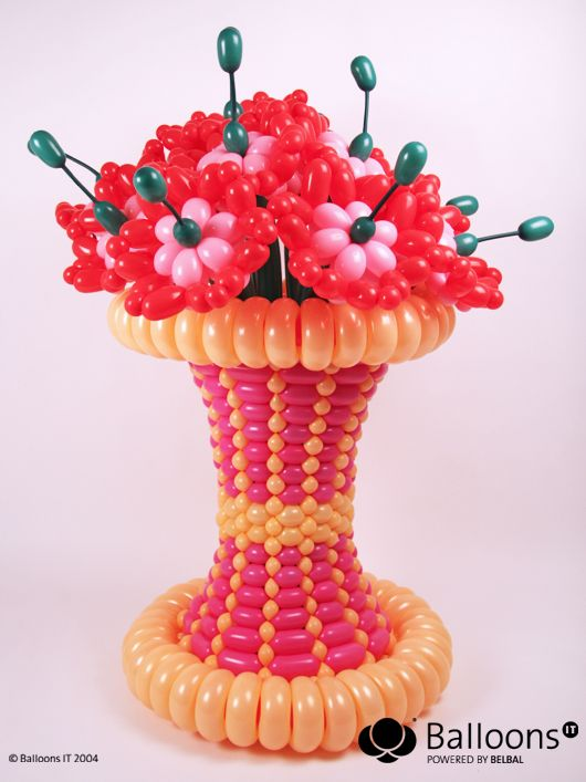 Flower vase twist balloons balloon bouquets
