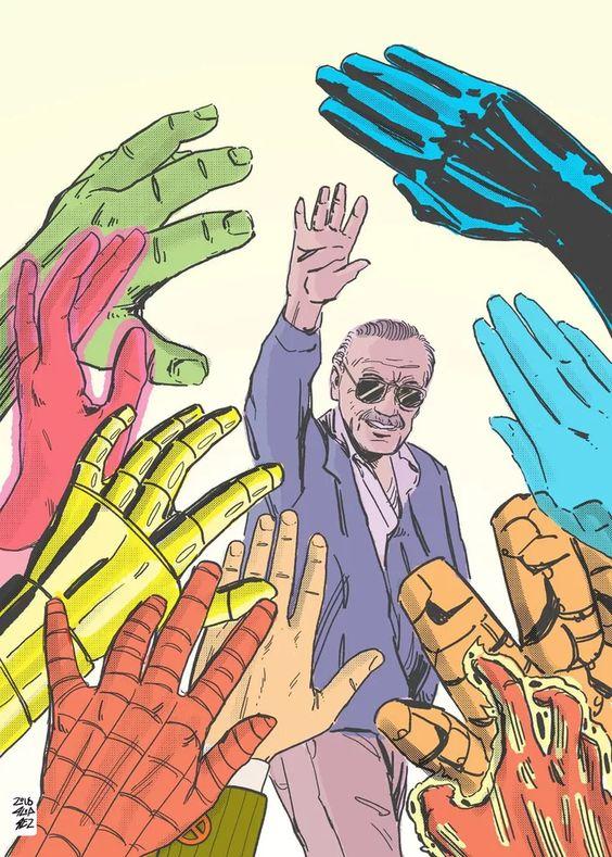 Stan Lee tributo homenaje cómic Marvel Cartoon Spiderman ilustraciones