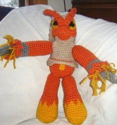 Bizzy Crochet: Pokemon Blaziken Look-Alike